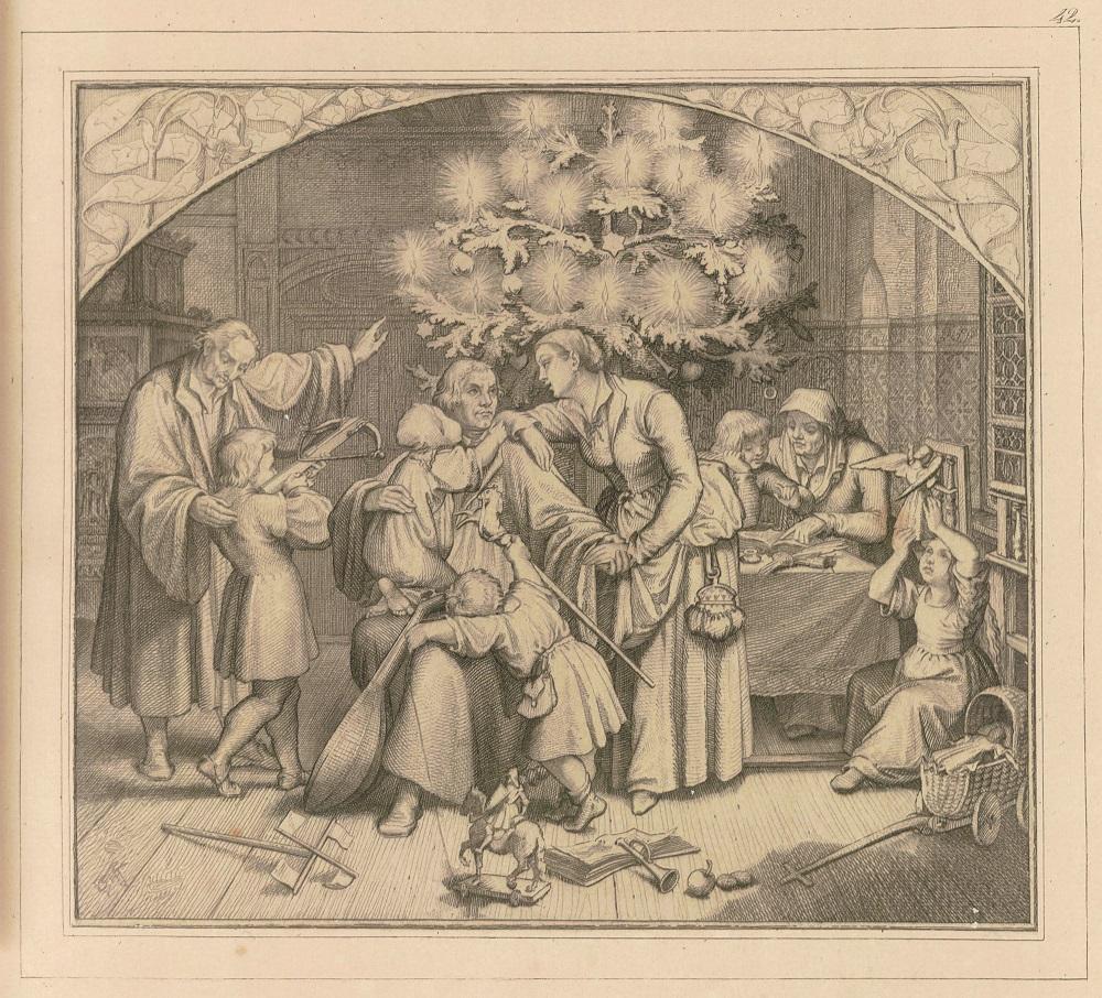 Luthers Winterfreuden im Kreise seiner Familie 1851